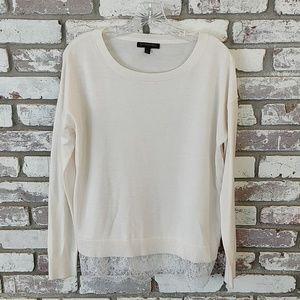 Banana Republic Factory Lace Trim Sweater
